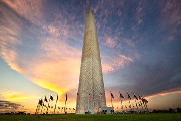 Washington Monumen at sunset, Washington DC