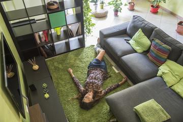 riposarsi sul tappeto
