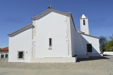 A view of the parish church in Salir, Portugal