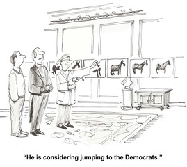 """He is considering jumping to the Democrats."""