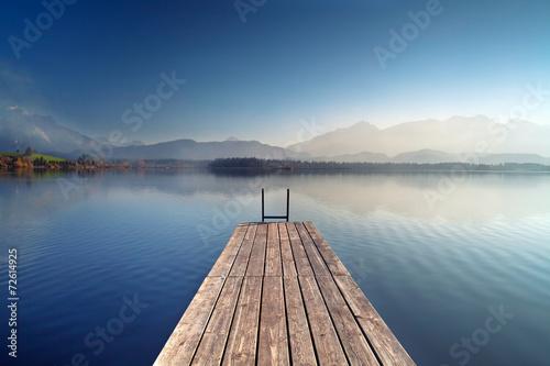 Stampa su Tela Herbst am Alpensee