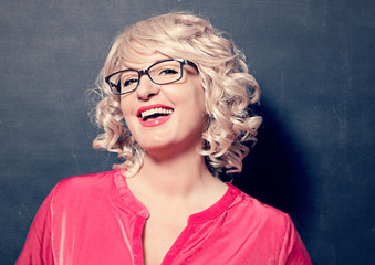 blond girl with glasses laughing-business rocks 15