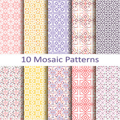 set of ten mosaic patterns
