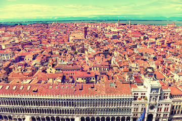 Venice roofs from above