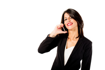 business woman talking on mobile phone
