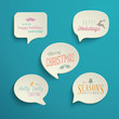 Collection of Holiday Speech Bubbles with various messages
