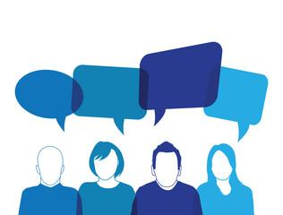 blue people speaking