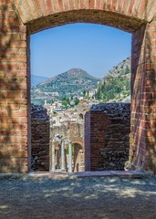Greek theater,Taormina Sicily.