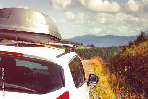car with a roof rack - 72616195