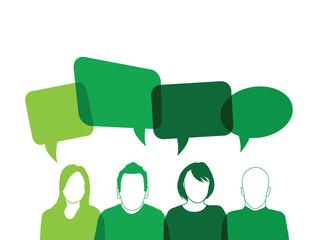 green people speaking