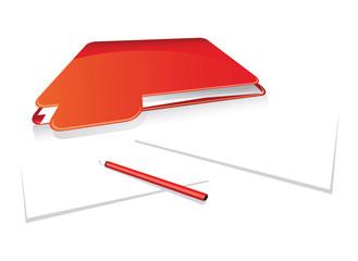 red folder set