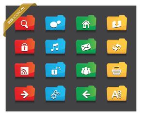 web folder icon set