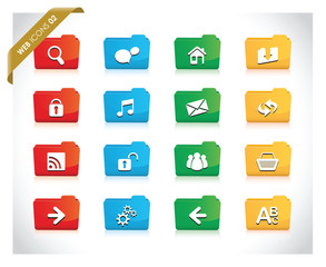 web fold icon set