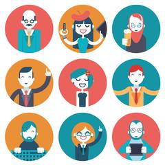 Male and Female Avatars Businessman Director Businesswoman