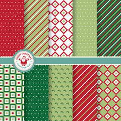 Set of Christmas and New Year vector seamless patterns
