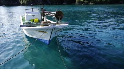 係留した漁船