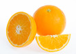 Oranges on white background.