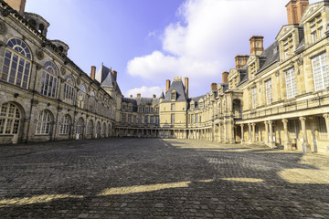 Inner courtyard of the royal palace at Fontainebleau