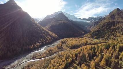 Valmalenco (IT) - Chiareggio - Vista aerea a 360°