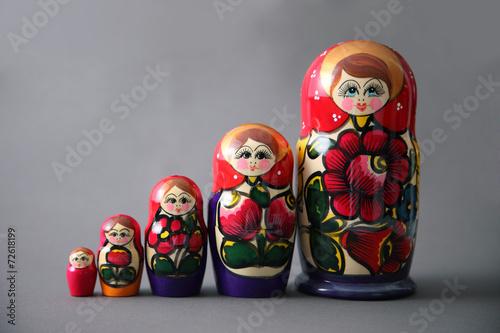 Leinwandbild Motiv Poupées russe