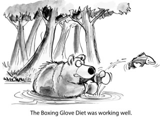 The Boxing Glove Diet was working well