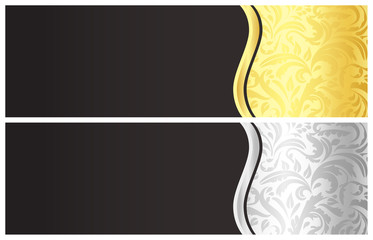 Classical black gift certificate with victorian decoration