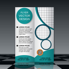 Bi-fold flyer vector template