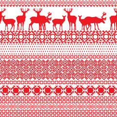 seamless patterns with the Lapland