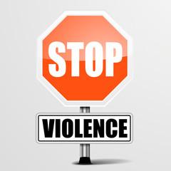 Roadsign Stop Violence