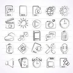 Mobile Phone Interface icons - vector icon set