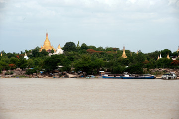 View of Sagaing hill,Myanmar.