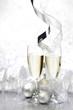 canvas print picture - Champagne and decor