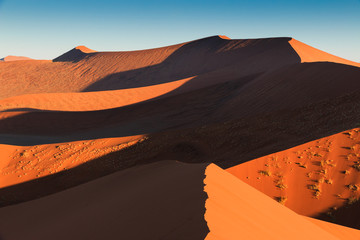 Walking to end of red sanddune Sossusvlei