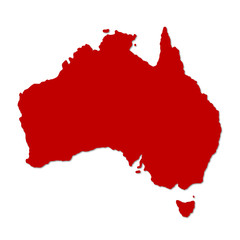 Image of Australia on modern map illustration