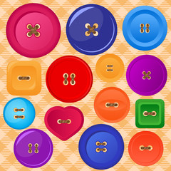 collection of colorful vector buttons
