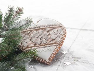 Gingerbread Christmas heart