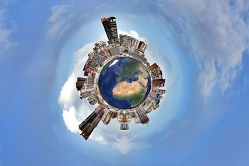 Little planet. Cities.