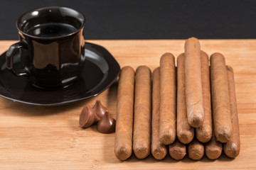 Worldwide famous hand rolled Cuban cigars