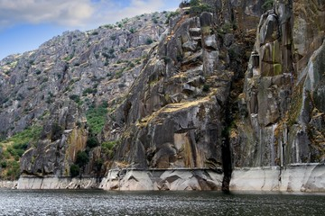 Granite cliffs along the Duero river in Spain