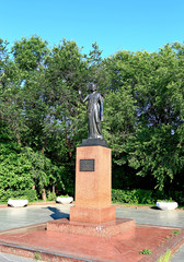Monument to Indira Gandhi in Moscow