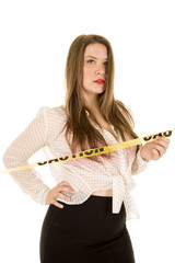 woman see through shirt red bra hand hip