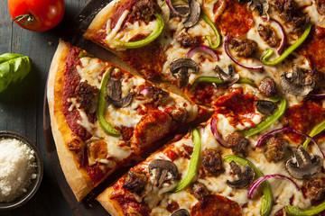 Homemade Hot Supreme PIzza