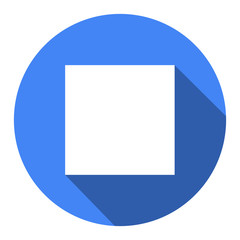 Glossy multimedia icon blue stop