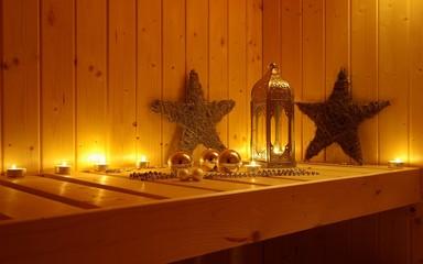 Sauna weihnachtlich