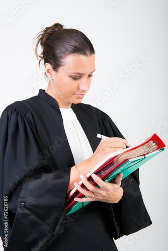 Leinwanddruck Bild avocat en robe