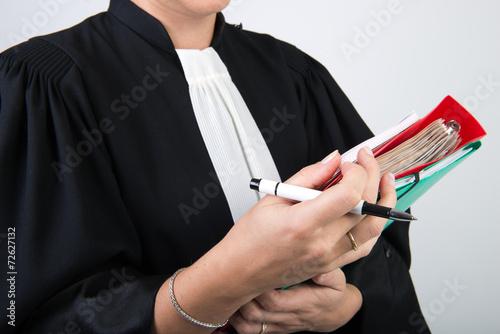 Leinwanddruck Bild personnel de justice