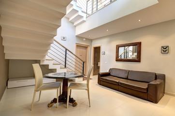Hall in the modern villa