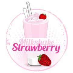 Milkshake Strawberry Stamp