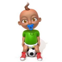 Baby Jake football player