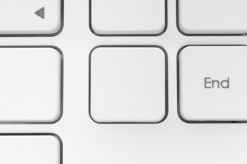 Blank button on the keyboard.